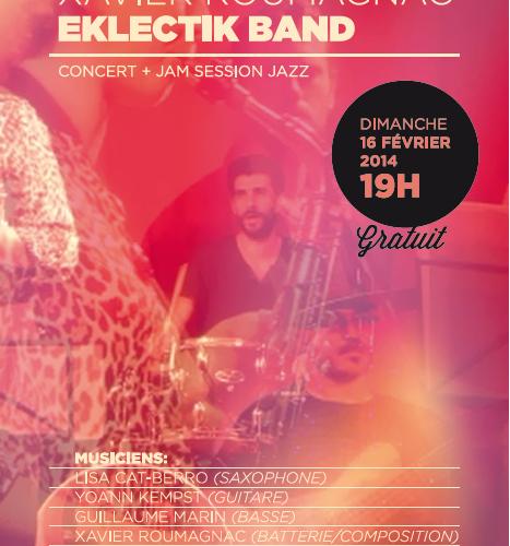 Xavier Roumagnac Eklectik Band en concert au Lou Pascalou